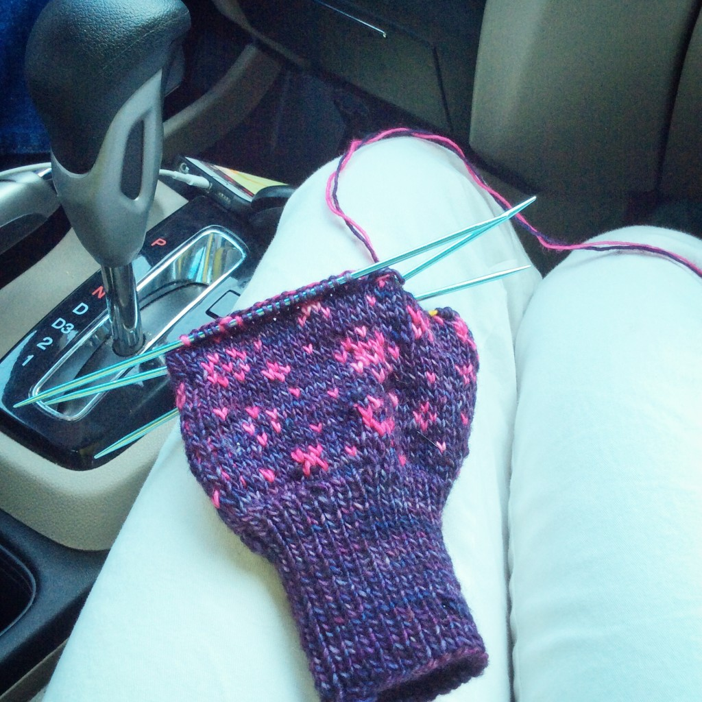 Mittens in progress